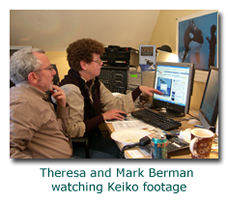 Theresa and Mark Berman Editing Film