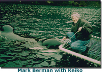 Mark Berman with Keiko